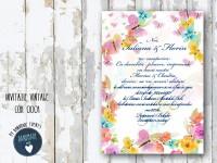 invitatie nunta vintage_ cod 0001