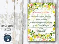 invitatie nunta vintage_ cod 0002