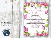 invitatie nunta vintage_ cod 0003