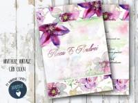 invitatie nunta vintage_ cod 0004__