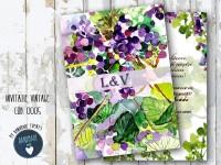 invitatie nunta vintage_ cod 0005