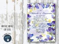 invitatie nunta vintage_ cod 0006