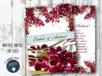 invitatie nunta vintage_ cod 0007