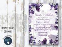 invitatie nunta vintage_ cod 0008
