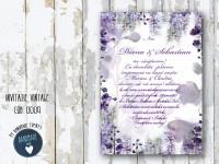invitatie nunta vintage_ cod 0009