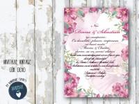 invitatie nunta vintage_ cod 0010_