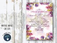 invitatie nunta vintage_ cod 0011