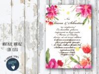 invitatie nunta vintage_ cod 0013