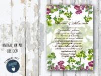 invitatie nunta vintage_ cod 0014
