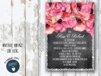 invitatie nunta vintage_ cod 0016