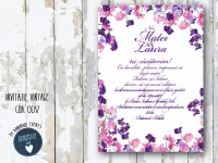 invitatie nunta vintage_ cod 0017_