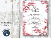 invitatie nunta vintage_ cod 0018