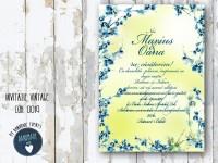 invitatie nunta vintage_ cod 0019