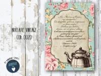 invitatie nunta vintage_ cod 0020