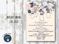 invitatie nunta vintage_ cod 0022
