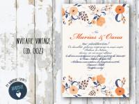 invitatie nunta vintage_ cod 0023