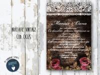 invitatie nunta vintage_ cod 0025