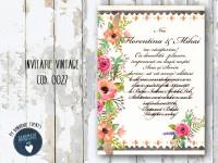invitatie nunta vintage_ cod 0027