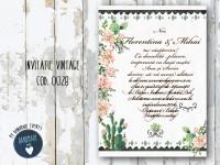 invitatie nunta vintage_ cod 0028