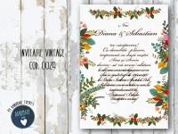 invitatie nunta vintage_ cod 0029