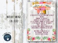 invitatie nunta vintage_ cod 0030