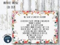 invitatie nunta vintage_ cod 0031