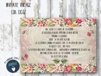 invitatie nunta vintage_ cod 0032
