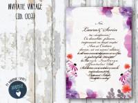 invitatie nunta vintage_ cod 0033