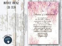 invitatie nunta vintage_ cod 0034