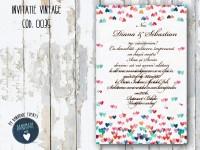 invitatie nunta vintage_ cod 0035