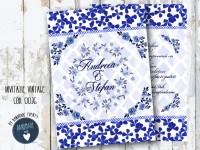 invitatie nunta vintage_ cod 0036