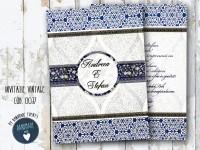 invitatie nunta vintage_ cod 0037