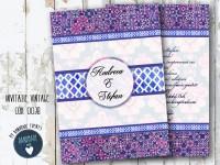 invitatie nunta vintage_ cod 0038