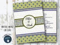 invitatie nunta vintage_ cod 0040_
