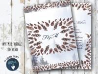 invitatie nunta vintage_ cod 0041