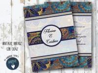 invitatie nunta vintage_ cod 0042