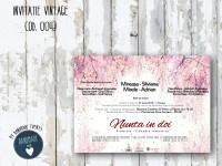 invitatie nunta vintage_ cod 0043